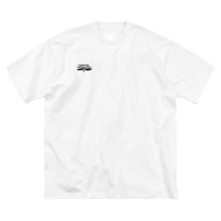 シンプルYAMATON 白 Big silhouette T-shirts
