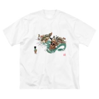 百鬼夜行 オニハ外 Big silhouette T-shirts