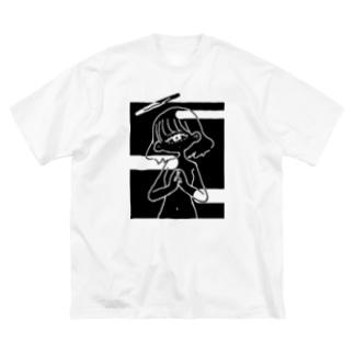 祈りを華を-影 Big silhouette T-shirts