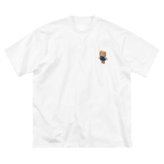 カクカクぶたさん Big silhouette T-shirts