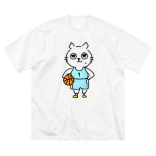 バスケットボール(1番) Big silhouette T-shirts