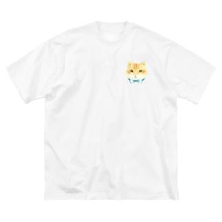 おめかし猫さん Big silhouette T-shirts