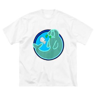 無い家紋-ジュゴン- Big silhouette T-shirts