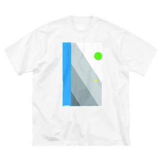 冬のおわり、あるいは春のはじまりTシャツ Big silhouette T-shirts