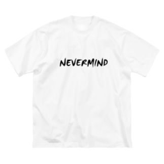 NEVER MIND2 Big silhouette T-shirts