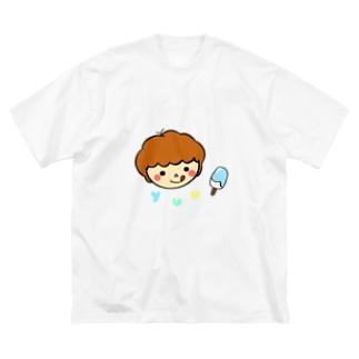 オリジナルイラスト1〜クリームソーダーver〜 Big silhouette T-shirts