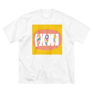 フルーツサンド Big silhouette T-shirts