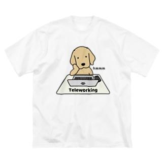 テレワーク Big silhouette T-shirts