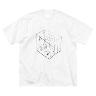 GHOST ROOM Big silhouette T-shirts
