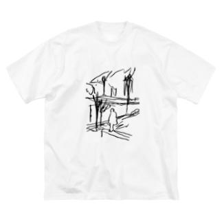 セーヌ川と俺やで Big silhouette T-shirts