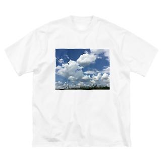 夏空 Big silhouette T-shirts