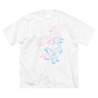 三羽 Big silhouette T-shirts