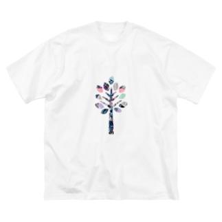 Colorful Tree Big silhouette T-shirts
