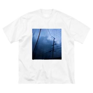 静脈 Big silhouette T-shirts