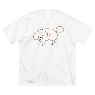 いぬまゆげの散歩 Big silhouette T-shirts