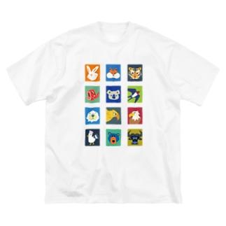 12アニマル Big silhouette T-shirts