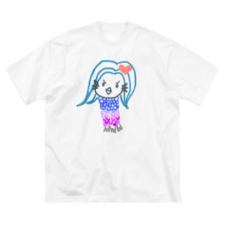 アマビエちゃん疫病退散 Big silhouette T-shirts