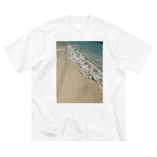 砂浜リゾート Big silhouette T-shirts