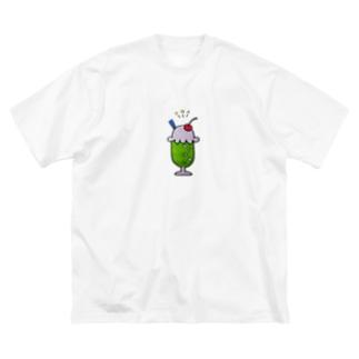 しゅわしゅわメロンソーダ Big silhouette T-shirts