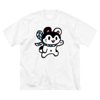 ナンデヤネンくん Big silhouette T-shirts