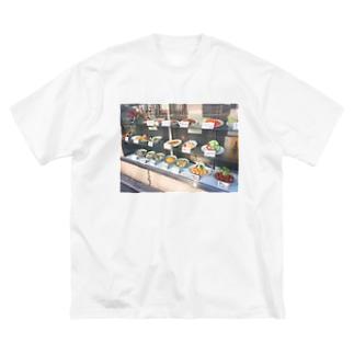 あの店の軒先 Big silhouette T-shirts