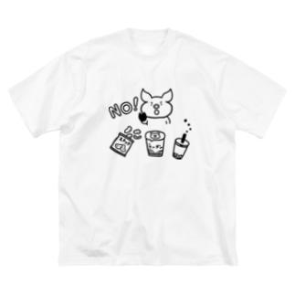意志の強いブタ Big silhouette T-shirts