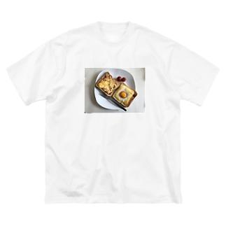 朝ごはん Big silhouette T-shirts