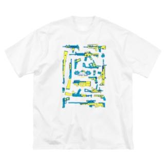 ミリにゃんTシャツ Big silhouette T-shirts