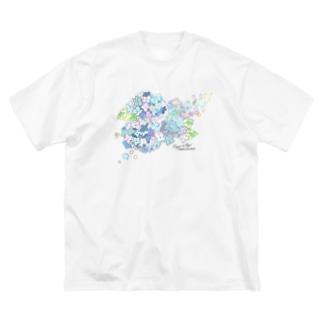 あじさい Big silhouette T-shirts