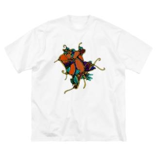 濃い!恋!鯉! Big silhouette T-shirts