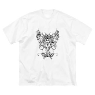 土偶ちゃん Big silhouette T-shirts