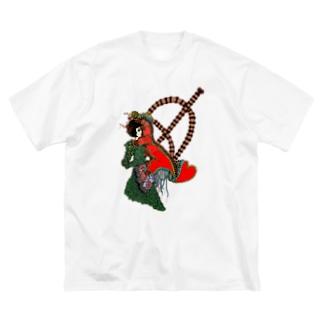 恋の弓キリキリ Big silhouette T-shirts