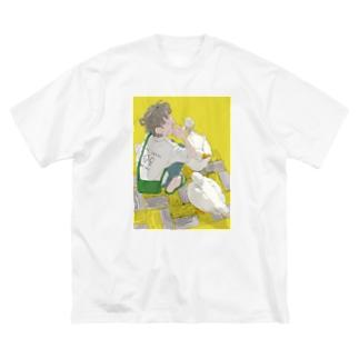 アヒルとソフトクリーム Big silhouette T-shirts