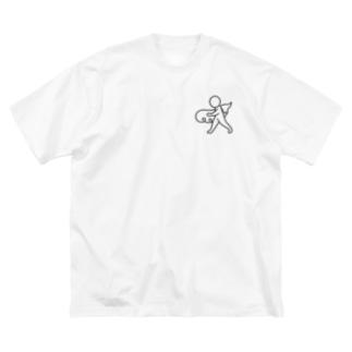 筋斗雲とさんぽ Big silhouette T-shirts