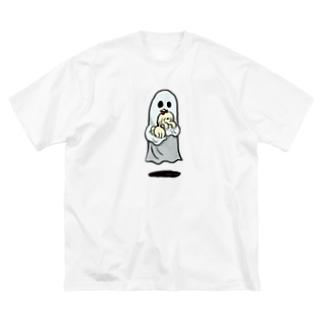 おばけといぬちゃん Big silhouette T-shirts