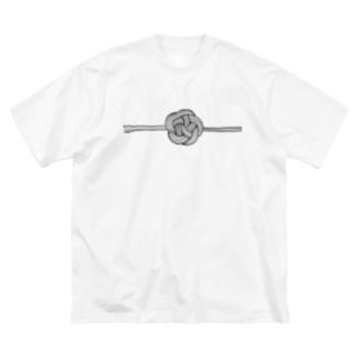 梅 結び Big silhouette T-shirts