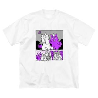よだれねこ2020B Big silhouette T-shirts