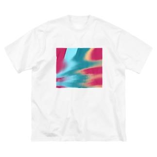 傾き Big silhouette T-shirts
