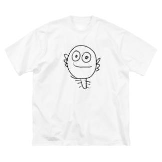 ウーパールーパー君Tシャツ Big silhouette T-shirts