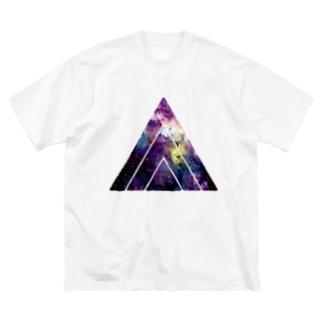 FUNKY TRIANGLE LOGO。 A/宇宙 Big silhouette T-shirts