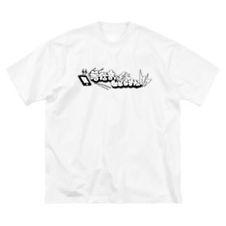 着信音でビビらすなロゴ Big silhouette T-shirts