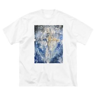たびおわ Big silhouette T-shirts