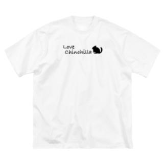 Love  chinchilla Big silhouette T-shirts