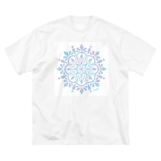 小枝[FunCoMadeメンバー]のMANDARA-light blue- Big silhouette T-shirts