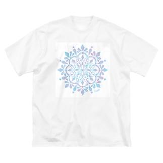 MANDARA-light blue- Big silhouette T-shirts
