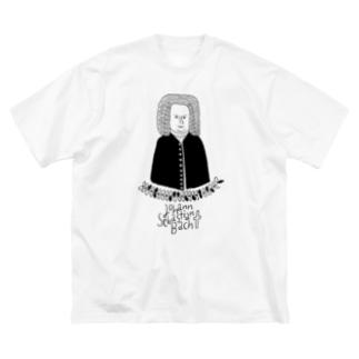ヨハン・セバスチャン・バッハ Big silhouette T-shirts