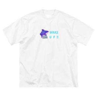 ハリガネ☀️WAKE UP !! Big silhouette T-shirts