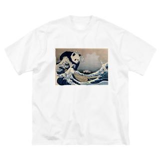 不忍池大反乱 Big silhouette T-shirts