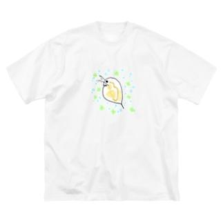 みじんこ Big silhouette T-shirts