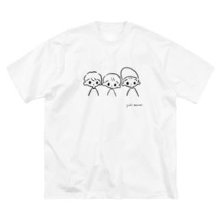 おとこの子。 Big silhouette T-shirts